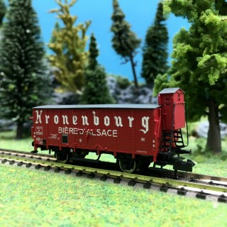 "Wagons à bière ""Kronenbourg"" SNCF Ep III-N 1/160-BRAWA 67456"