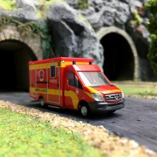 "Ambulance mercedes ""Genève""-HO 1/87-RIETZE 76102"