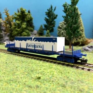 Wagon porte container ASTURIANA RENFE EpV-N 1/160-ARNOLD HN6405