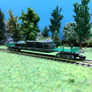 Wagon plat chargé RENFE EpV-N 1/160-ARNOLD HN6406