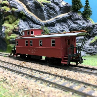 Caboose AT-SF 1951-HO-1/87-MARKLIN 4570 DEP167-004