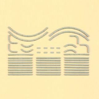 38 bordures de trottoirs à peindre-HO 1/87-PREISER 18200