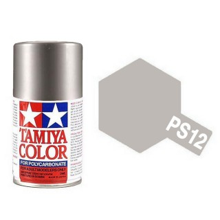 Argent (Silver) metallique Polycarbonate Spray de 100ml-TAMIYA PS12