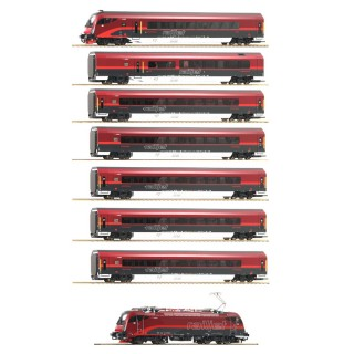 Set complet Railjet ÖBB Ep VI digital son 3R-HO 1/87-ROCO 74116