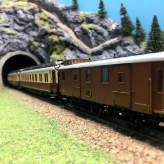Coffret CIWL Simplon Express-HO 1/87-HOBBYTRAIN 44019