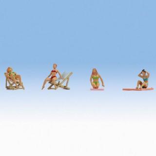 4 Femmes en bronzage-HO-1/87-NOCH 15851