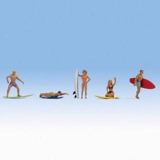 5 Surfeurs / Surfeuses-HO-1/87-NOCH 15853