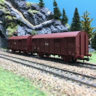 2 wagons couvert NS Ep IV-HO 1/87-RIVAROSSI HR6430