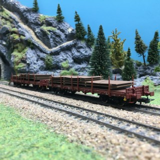 2 wagons plats ranchers + charges FS Ep V-HO 1/87-RIVAROSSI HR6425