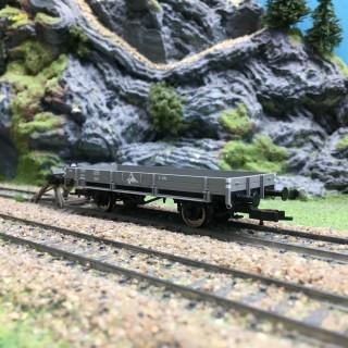 Wagon plat bords bas ÖBB-HO 1/87-FLEISCHMANN ADTX4152