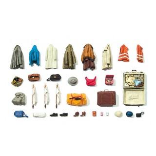 Set de vêtements et bagages-HO 1/87-PREISER 17008