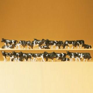 Troupeau de 30 vaches noires et blanches-HO-1/87-PREISER 14408