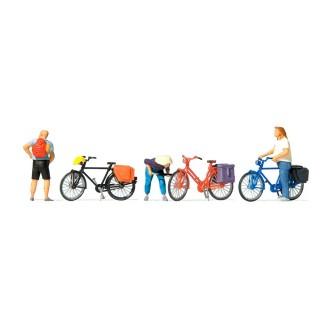 Cyclistes au repos-HO-1/87-PREISER 10659
