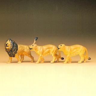 2 Lions + 1 Lionne-HO-1/87-PREISER 20379