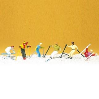Skieurs Alpins-HO-1/87-PREISER 10313