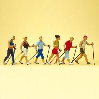 Marcheurs de fond-HO-1/87-PREISER 10575
