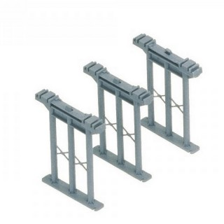 3 supports pour rampe-HO 1/87-HORNBY R659