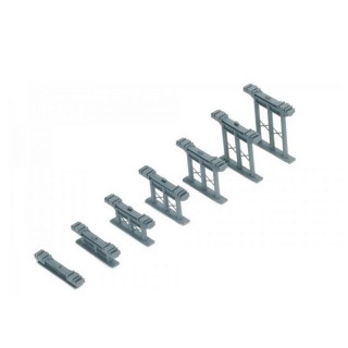 7 supports pour rampe-HO 1/87-HORNBY R658