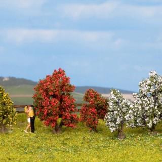 5 arbustes en fleurs 3/4 cm de haut-HO 1/87-NOCH 25420