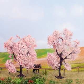 2 Amandiers en fleurs 8 et 9 cm de haut-HO-NOCH 21996
