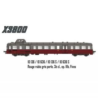 Autorail X3800 Picasso Fives Sncf épIIIb -HO 1/87- LSMODELS 10136