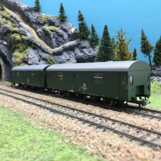 Coffret 2 wagons postaux DR Ep IV-HO 1/87-ROCO 74111