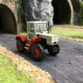 Tracteur Mercedes Trac 800 Gris/Rouge-HO 1/87-BREKINA 13700