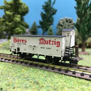 Wagon Bières Mutzig SNCF Ep III-N 1/160-BRAWA 67457