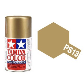 Or (Gold) métallique Polycarbonate Spray de 100ml-TAMIYA PS13