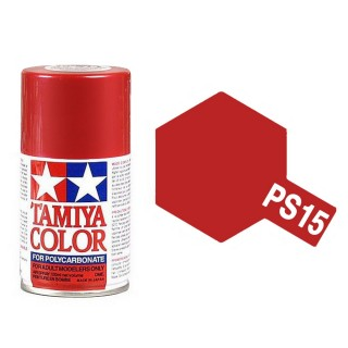 Rouge (Red) métallique Polycarbonate Spray de 100ml-TAMIYA PS15