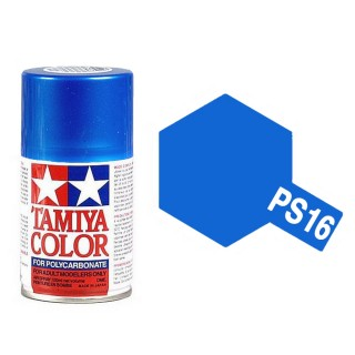 Bleu (Blue) métallique Polycarbonate Spray de 100ml-TAMIYA PS16