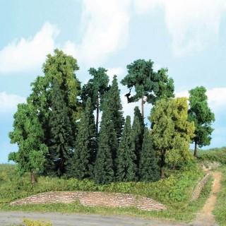 Forêt de 20 sapins 7 à 18 cm-HO 1/87-HEKI 1957