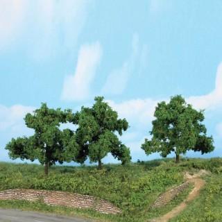 3 arbres fruitiers 13 cm de haut-HO 1/87-HEKI 1934