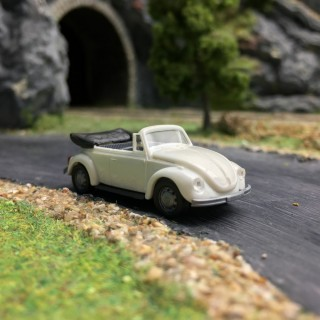 VW Coccinelle Cabriolet Blanche-HO 1/87-AWM 0020BC