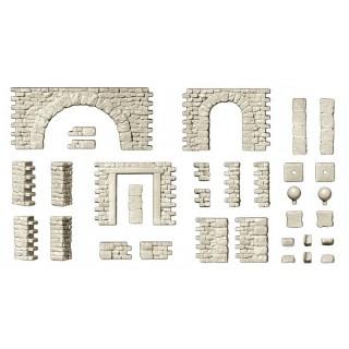 Kit de murs à assembler-HO-1/87-PREISER 18217