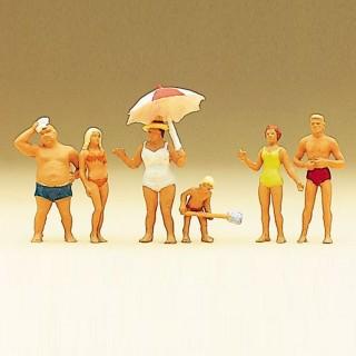 6 personnages à la plage-HO 1/87-PREISER 10283