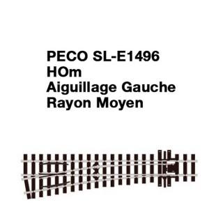 Aiguillage Gauche-HOm 1/87-PECO SLE1496