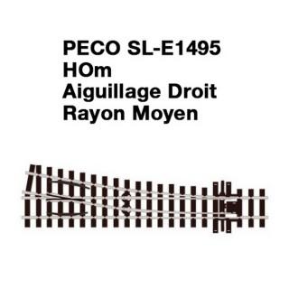 Aiguillage Droit-HOm 1/87-PECO SLE1495