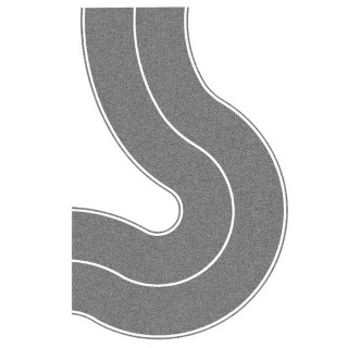 2 Feuilles de route courbe 40mm souples et autocollantes-N 1/160-NOCH 34204