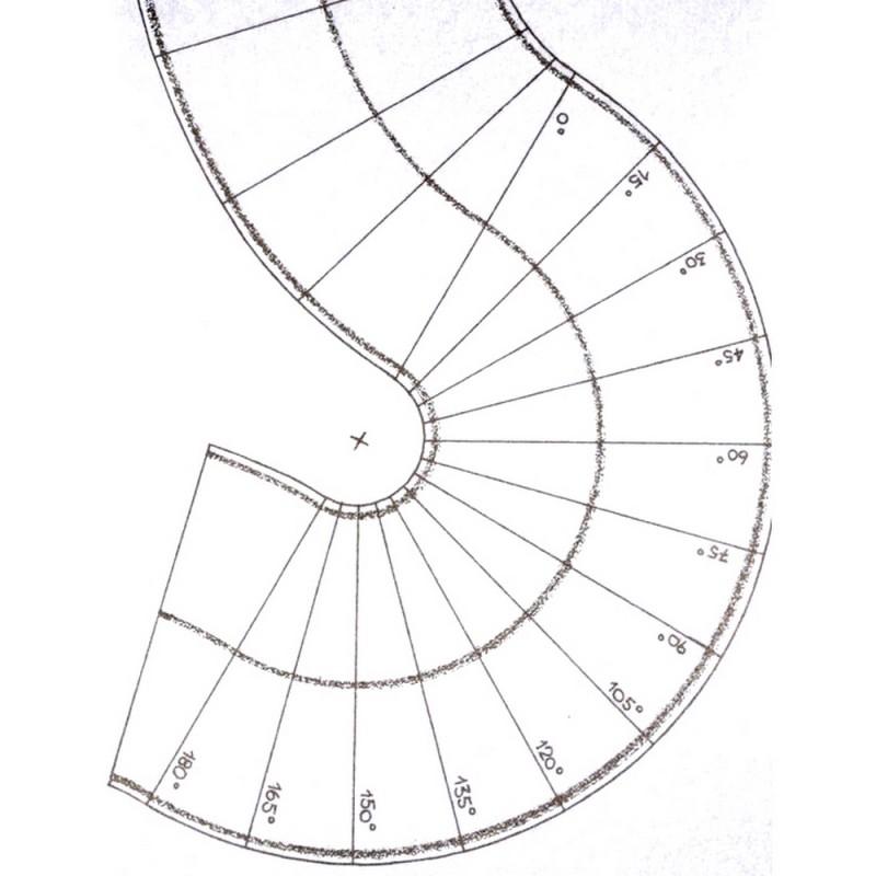 2 Feuilles de route courbe 40mm souples et autocollantes-N 1//160-NOCH 34204