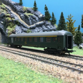Voiture A7B Mixte Fourgon / CL1 SNCF-HO 1/87-LIMA OC1293