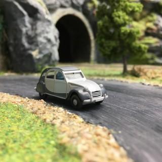 Citroën 2CV Charleston gris bi-ton-HO 1/87-WIKING 080913