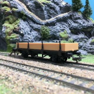 Wagon plat à ranchers-HO 1/87-MECCANO HORNBY 7172 DEP64-178