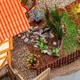 7 bassins / étangs de jardin-HO 1/87-FALLER 180973