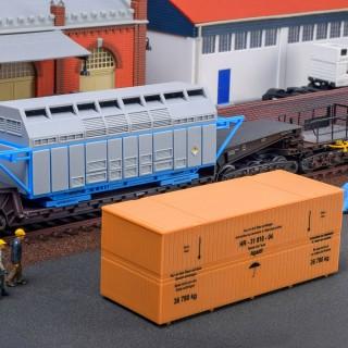 Container et charge lourde-HO 1/87-KIBRI 16511