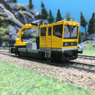 Draisine Robel diesel avec grue digitale sonorisée-HO-1/87-VIESSMANN 2620