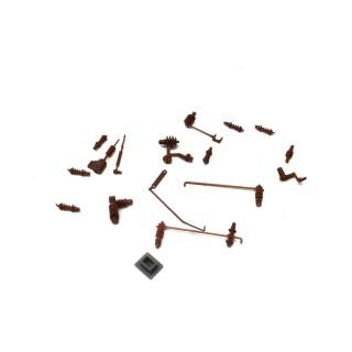 Isolateurs / Ligne de toiture pour BB26000-HO 1/87-PIKO 96130-07