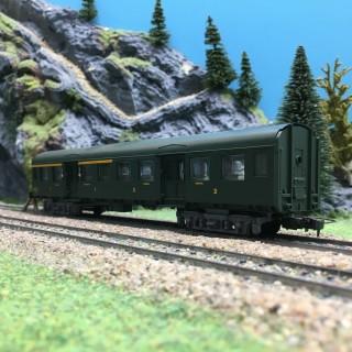Voiture mixte CL1 / CL2 SNCF-HO 1/87-JOUEF 510200 DEP157-018