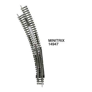 Aiguillage courbe gauche R3 R4 de 30 degrés-N 1/160-MINITRIX 14947