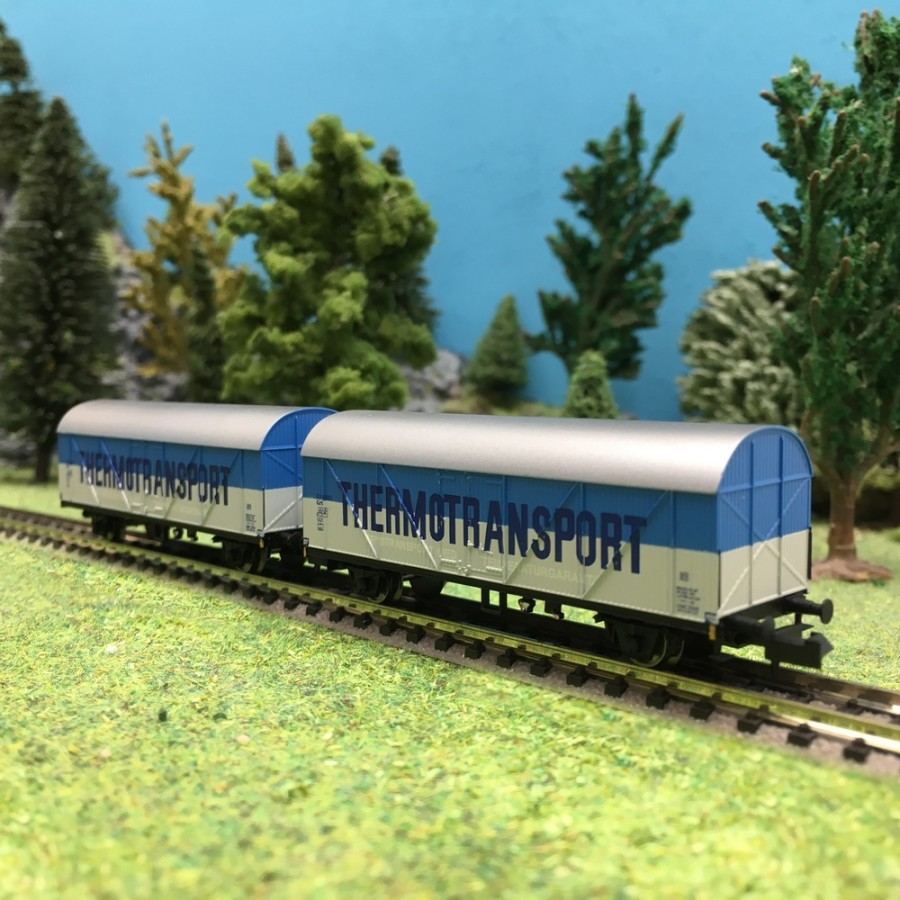 2 wagons frigo Thermotransport SJ Ep III-N 1/160-ARNOLD HN6402
